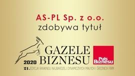 """AS-PL zdobywa tytuł """"Gazeli Biznesu 2020"""""""