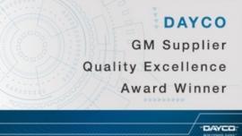 Dayco z nagrodą organizacji General Motors