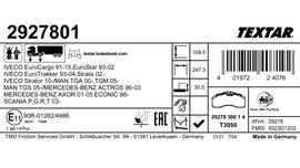 Nowe etykiety na opakowaniach klocków hamulcowych Textar do pojazdów użytkowych