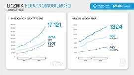Licznik elektromobilności: branża prognozuje dalszy wzrost samochodów z napędem elektrycznym w 2021 r.